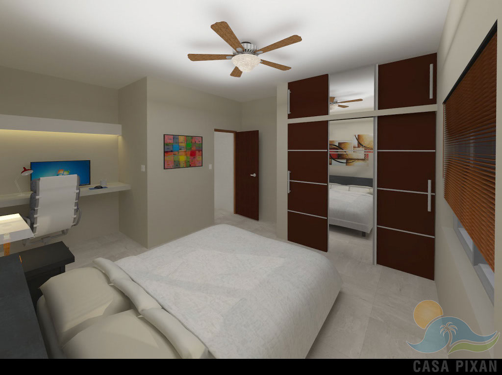 Casa Pixan king bedrooms